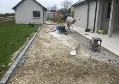 processing groundwork at a house - Prestige Tarmacadam
