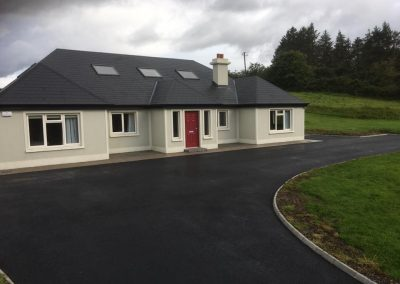 completed tar house front - Prestige Tarmacadam