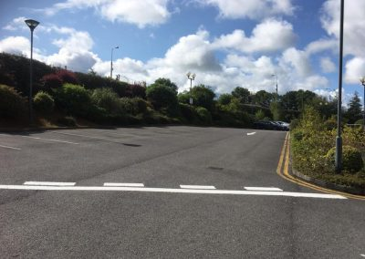completed tar and lining on carpark- Prestige Tarmacadam
