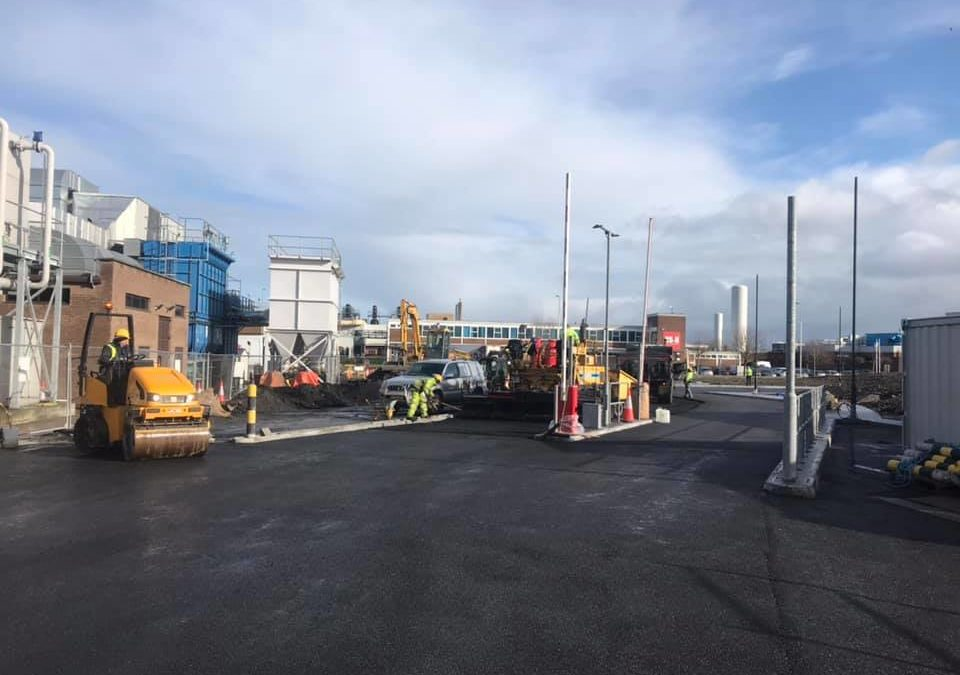 Factory Carpark and New Roads for Stryker